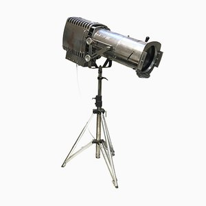 Mid-Century Industrial Steel Stage Electric Theatre Tripod Lamp by Arthur Earnshaw & Philip Sheridan for Strand Electric