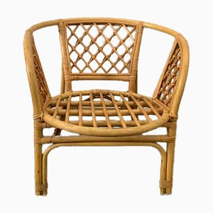 Wicker & Bamboo Armchair, 1970s