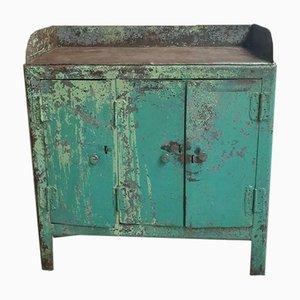 Industrial Sea Green Shop Cupboard, 1960s