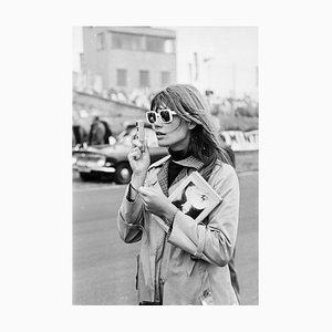 Francoise Hardy Silver Gelatin Resin Print Framed in Black by Victor Blackman