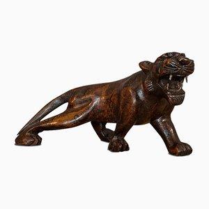 Antiker Teak Carved Tiger
