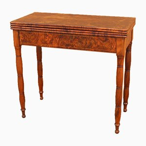 19th Century Walnut Console Game Table