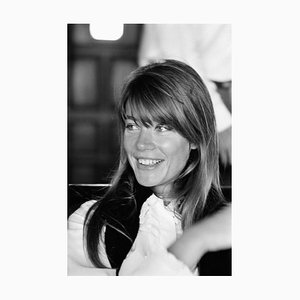 Francoise Hardy Archival Pigment Print Framed in Black by Giancarlo Botti