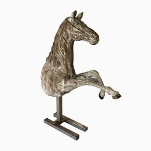 18th Century Beech Half Model of Horse