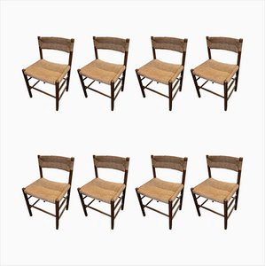 Dordogne Dining Chairs by Robert Sentou, 1960s, Set of 8