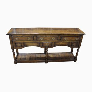Titmarsh and Goodwin Oak 6-Drawer Dresser Base, 1980s