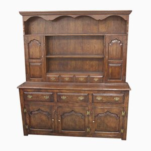 Large Titmarsh and Goodwin Oak Carved Dresser, 1980s