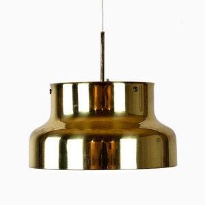 Brass Bumling Pendant Light by Anders Pehrson for Ateljé Lyktan, Sweden, 1960s