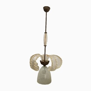 Antique Murano Glass Chandelier from Barovier & Toso, 1940s