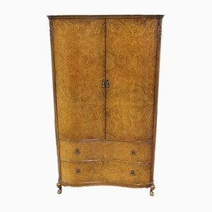 West of Scotland Burr Walnut Press Wardrobe, 1960s