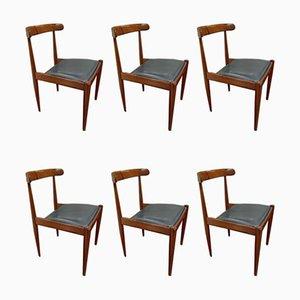 500 Orangefarbene Esszimmerstühle von Alfred Hendrickx für Belform, 1961, 6er Set