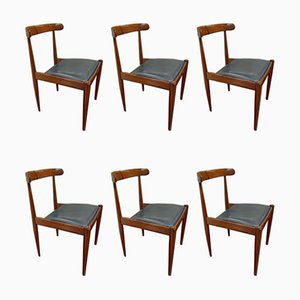 500 Orangewood Dining Chairs by Alfred Hendrickx for Belform, 1961, Set of 6