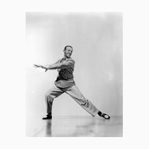Fred Astaire Mid Dance Routine Archival Pigment Print Framed in Black by Everett Collection