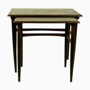 Tavolini in palissandro di Poul Hundevad per fabian, Danimarca, anni '60, set di 2