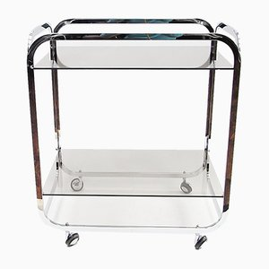 Smoked Glass & Chrome Trolley, 1970s