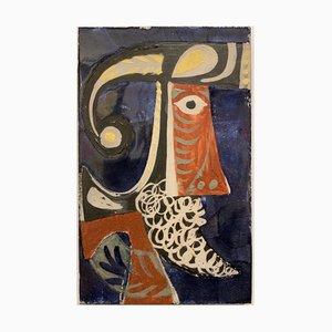 Keramikplatte von Roger Capron, 1950er