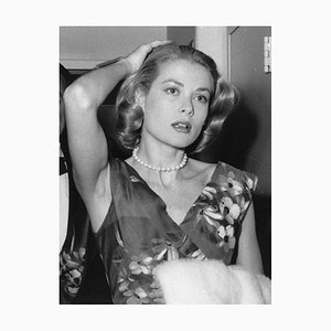 Grace Kelly Silver Gelatin Resin Print Framed in Black by Express Newspapers
