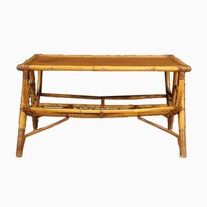 Italian Coffee Table in Bamboo, 1970s