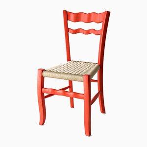 A Signurina - Corallo Stuhl aus handbemaltem Eschenholz von Antonio Aricò für MYOP