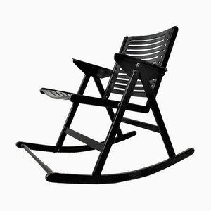 Mid-Century Red Folding Rocking Chair by Niko Kralj for Stol Kamnik