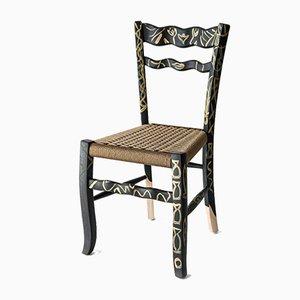 Sedia A Signurina - Pupara in legno di frassino dipinto a mano di Antonio Aricò per MYOP