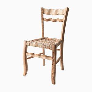 A Signurina - Nuda 01 Chair in Ashwood with Corn Rope Straw by Antonio Aricò for MYOP