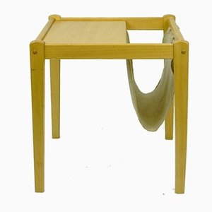 Scandinavian Modern Beech Side Table with Magazine Rack from BRDR Furbo