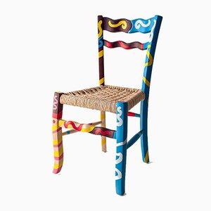 A Signurina - Sciacca Sessel aus handbemaltem Eschenholz von Antonio Aricò für MYOP