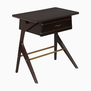 Mid-Century Modern Mahogany Console with Drawer by Cesare Lacca