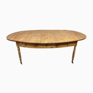 Early French Fruitwood Oval Farmhouse Dining Table