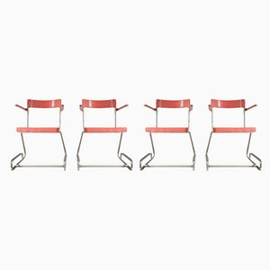 Stacking Chairs, 1950s, Set of 4