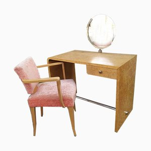 Dressing Table & Chair, 1930s, Set of 2