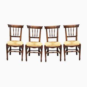 Rustikale Esszimmerstühle, 4er Set