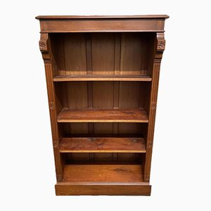 Mahogany Open Bookcase with Adjustable Shelves