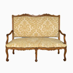Sofa Bank aus Eiche im Louis XV Stil