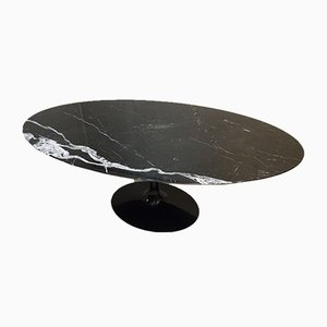Black Marquina Marble Dining Table by Eero Saarinen for Knoll Inc. / Knoll International, 1990s
