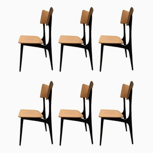 Dining Chairs by Alfred Hendrickx for Belform, 1953, Set of 6