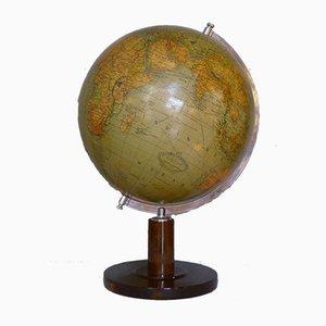 Art-Déco-Globus auf Buchenholzständer von Columbus Oestergaard, 1950er