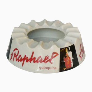 French Ceramic Ashtray with Advertisement for St. Raphael Quinquina by Charles Loupot