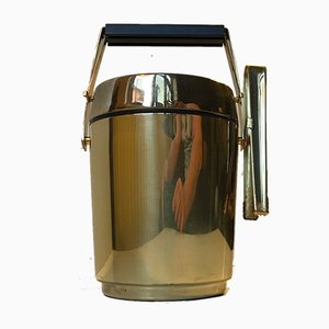 Mid-Century Brass Ice Thermos Bucket and Tong from Alfi, 1970s