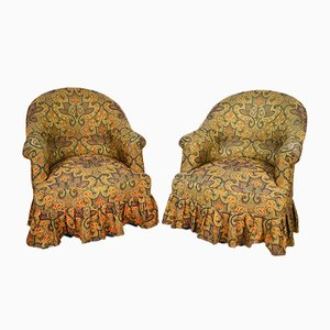 Victorian Style Toad Armchairs, 1970s, Set of 2