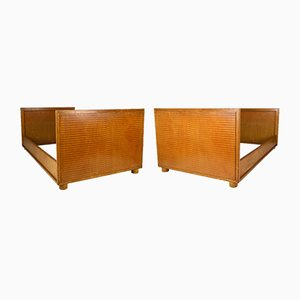 Art Deco Twin Beds by Louis Majorelle for Majorelle Nancy, 1925, Set of 2