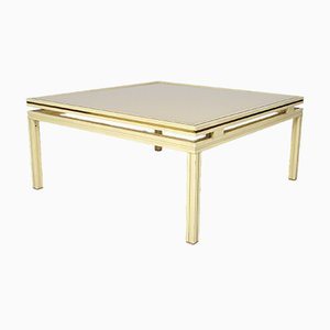 Mid-Century Lacquered Aluminium & Brass Coffee Table by Pierre Vandel