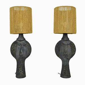 Vintage Table Lamps by Dominique Pouchain, Set of 2