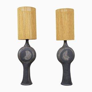 Vintage Table Lamps by Dominique Pouchain, Set of 2