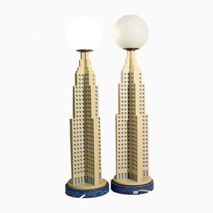 Skyscraper Table Lamps from Kostka, 1980s, Set of 2