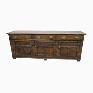 Antique Neo Gothic Oak Sideboard