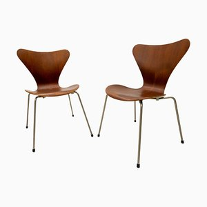 Model 3107 Butterfly Chairs by Arne Jacobsen for Fritz Hansen, 1950s, Set of 2