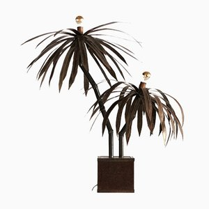 Vintage Palm Tree Floor Lamp by PH Barbier for Maison Jansen, 1970s