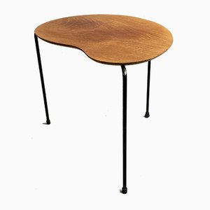 Plywood and Iron Side Table by Arne Jacobsen for Thonet, 1950s